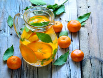 Tangerine lemonade Royalty Free Stock Images