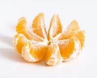 Tangerine lub clementine cięcie przy kawałkami Fotografia Royalty Free