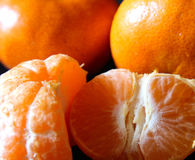 Tangerine. Macro shot of a Bright orange tangerine fuit Stock Image