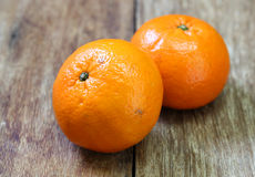 Tangerine, Mandarin honey orange on wood Stock Photography