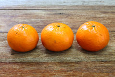 Tangerine, Mandarin honey orange on wood Stock Photo
