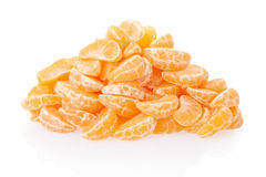 Tangerine or mandarin segments heap Royalty Free Stock Photography