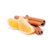Tangerine, Mandarine und Zimt Stockbilder