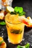 Tangerine Mojito Cocktail Stock Photo