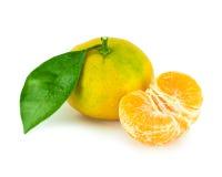 Tangerine na biały tle Obrazy Royalty Free