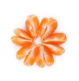 Tangerine- oder Mandarinenfrucht lokalisiert auf weißem Hintergrundausschnitt Lizenzfreies Stockfoto