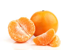 Tangerine orange fruit Stock Photos
