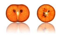 Tangerine orange section Royalty Free Stock Image