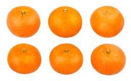 Tangerine. Path isolated on white Stock Photos