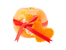 Tangerine peel Stock Images