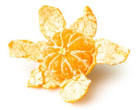 Tangerine peeled Stock Photos