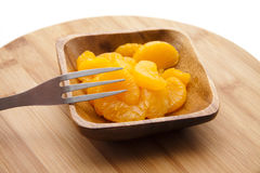 Tangerine peeled with fork Stock Images