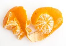 Tangerine peeled Stock Photo