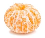 Tangerine. Peeled tangerine path isolated on white Stock Images