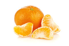 Tangerine and pieces Stock Photography