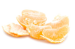 Tangerine pieces with peel Royalty Free Stock Image