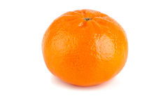Tangerine. Ripe tangerine on a white background Royalty Free Stock Image