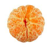 Tangerine segment on white. Tangerine segment on white background royalty free stock images
