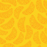 Tangerine segments seamless background. Royalty Free Stock Photos