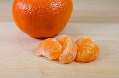Tangerine segments Royalty Free Stock Photos
