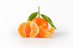 Tangerine with separated segments Stock Photo
