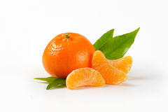 Tangerine with separated segments Royalty Free Stock Photography