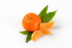 Tangerine with separated segments Stock Images