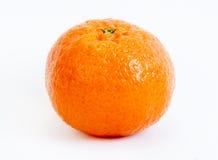 Tangerine single. Single tangerine isolated on a white background stock images