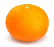 Tangerine. Single tangerine on white background Stock Images