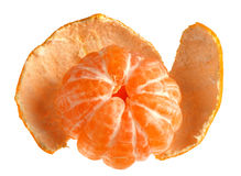 Tangerine with skin Royalty Free Stock Photo