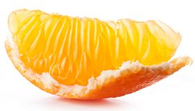 Tangerine slice. Royalty Free Stock Image