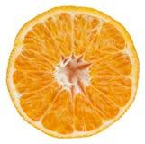 Tangerine slice isolated on white Stock Photo