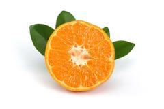 Tangerine Slice. Tangerine isolated on white background royalty free stock photos