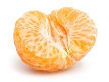 Tangerine. Slice on white background Royalty Free Stock Photography
