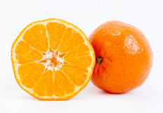 Tangerine sliced Stock Photos