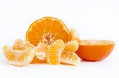 Tangerine sliced Stock Photo