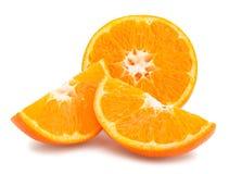 Tangerine. Sliced tangerine path isolated on white Stock Photos