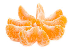 Tangerine slices Stock Photos