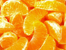 Tangerine slices Stock Photography