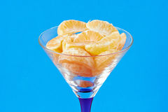 Tangerine slices in a glass Stock Images