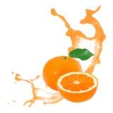 Tangerine splash Stock Photography