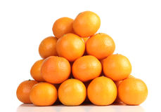 Tangerine stacked Royalty Free Stock Photography