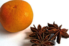 Tangerine and Star Anise Stock Photo