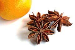 Tangerine and Star Anise Royalty Free Stock Photos