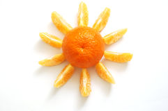 Tangerine sun Stock Photos