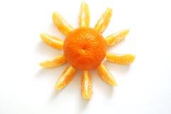 Tangerine sun Stock Photos