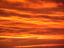 Tangerine sunset Royalty Free Stock Images
