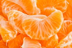 Tangerine. Macro closeup textured detail Stock Photography