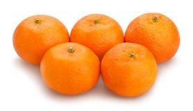 Tangerine. Path isolated on white Stock Photo