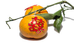 Tangerine, tangerine is used in Chinese wedding ceremony Royalty Free Stock Photography